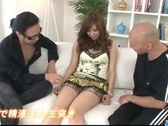 Dirty threesome Asian play with cock sucking Hinano