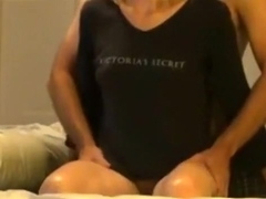 Blonde gets her tits massaged, pussy rubbed, doggystyle fucked and creampied.