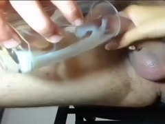 absorbing Cum out of Glass on Cam