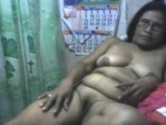 Mature Maria 59 from Cebu stripping and showing all