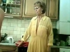 Granny Gets Fingered By Her Old Man
