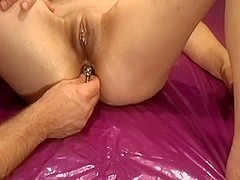 My sensual woman fucked by a machine