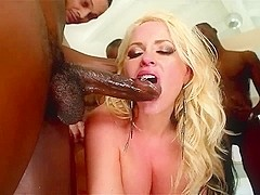 AC FF Deep Throat Gagging Blowbang Swallow