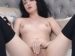 Brunette Amateur Babe Fingers Own Tight Pussy