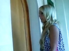 I get fucked by a guy in the homemade blonde porn clip