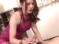 Hottest Japanese slut in Exotic Lingerie, /Futanari JAV clip