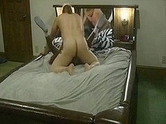 Black Girl & White Boy fucking on a waterbed 5 part 3