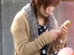 Public nudity with breathtaking Asian slut being completely uncovered