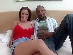 White chick fucks a big black dick.