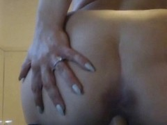 Hot blonde porn star close up reverse ride
