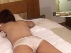 Pussy massage movie with a very horny asian bitch