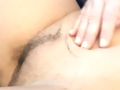 Girlfriend playing with pussy