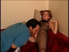 Aged dude cums up youthful tramp's pleasing arse on a ottoman