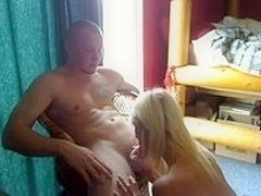 She sucks him dry, and swallows it