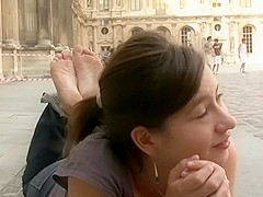 French Peruvian barefeet girl