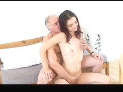 Diminutive tittted gal acquires fucked by older man PART2
