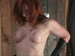 redhead on a stand and vibed