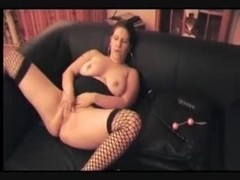 Horny german MILF with fingers and toy