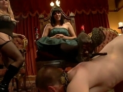 40 women gangbang slaveboy for Bobbi Starr's birthday LIVE and PUBLIC!