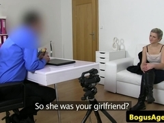 European casted babe pussyfucked doggystyle