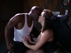 Horny pornstar Chanel Preston in crazy interracial, stockings sex video