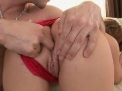 Bellina gets her ass stuffed with toys