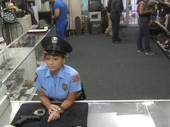 Ms police officer pawns her pussy and banged by pawnkeeper