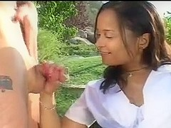 Teenage Outdoor Handjob