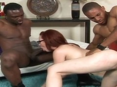 RawVidz Video: Geeky redhead loves black cocks