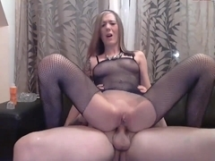 Cute Austrian immature pondering to have her bunghole boned