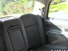 Flashing and anal fucking in fake taxi
