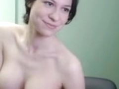Me showing my huge bust on webcam