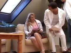 Blond is Scammed With a Boob Exam