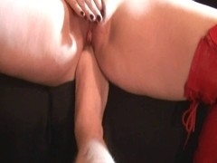 Pumped Vagina Hitachi Wand Agonorgasmos with Foot in Arse!