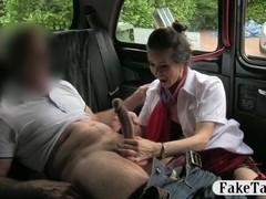 Horny stewardess sucks off and fucked with pervert dude