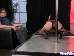 Stripper backs her ass into Keirans face and get her juicy ass fucked