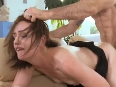 The slutty wife Sarah Shevon gets the big husband friend's dick