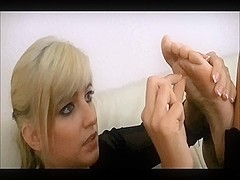 Blonde german hot gil Self Toe Sucking
