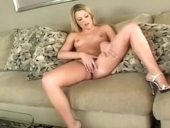 Hot Blond Fingers Her Own Cunt