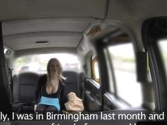 Amateur taxi brit bumfucked in the back