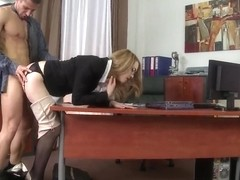 Kandall N is a passionate secretary with big tits