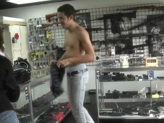 Amazing video of a guy posing on tape