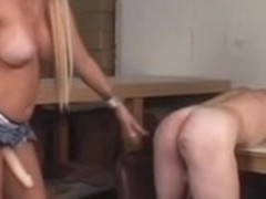 Golden-Haired with a worthwhile rack takes her mates gazoo