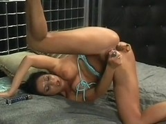 Hot Brunette Orgasm With Two Dildos