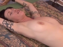 Fabulous pornstar in incredible tattoos, brunette porn clip