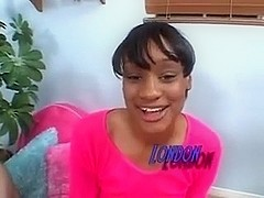 Pretty Black Teen plays with White Dick