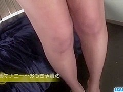 Mai Asahina lingerie babe plays with her soft pussy