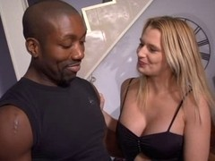 Big Black Cock ravaging a French blondie on the bed