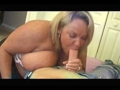 Sexy Cougar Neighbour Jerks and Blows