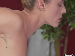 Milf fucked by lesbian masseuse